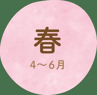 春 4〜6⽉