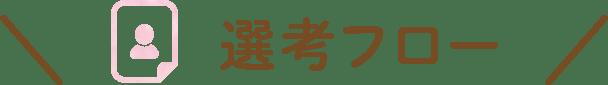 選考フロー(新卒・保育)